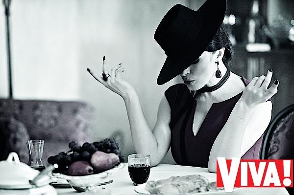 Надежда Мейхер в фотосессии Viva!