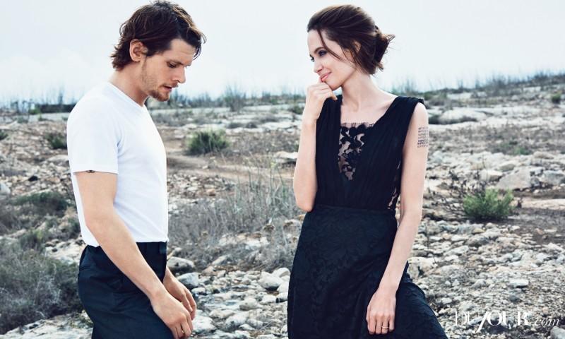 Анджелина Джоли и Джек О'Коннелл снялись в новой фотосессии