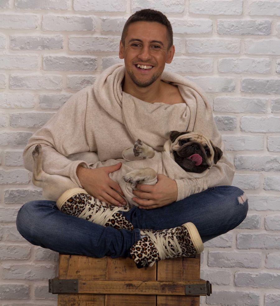 Дима Монатик с собакой