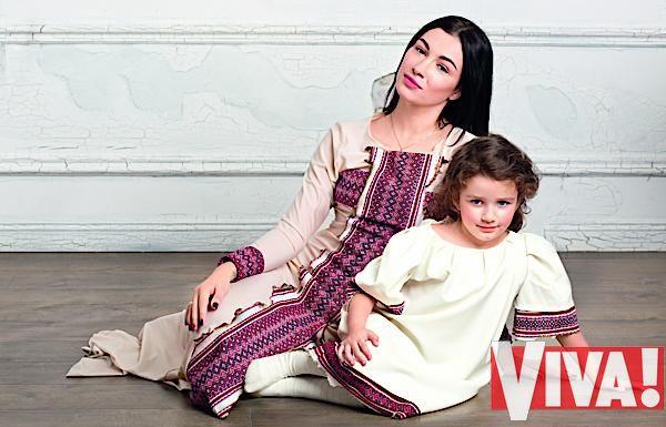 Анастасия Приходько и ее дочь Нана в фотосессии для Viva!
