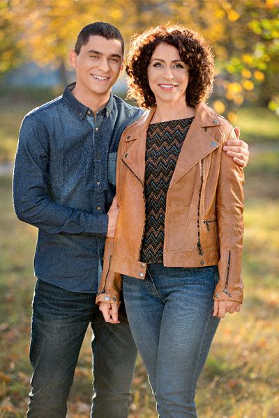 Надежда Матвеева и ее сын
