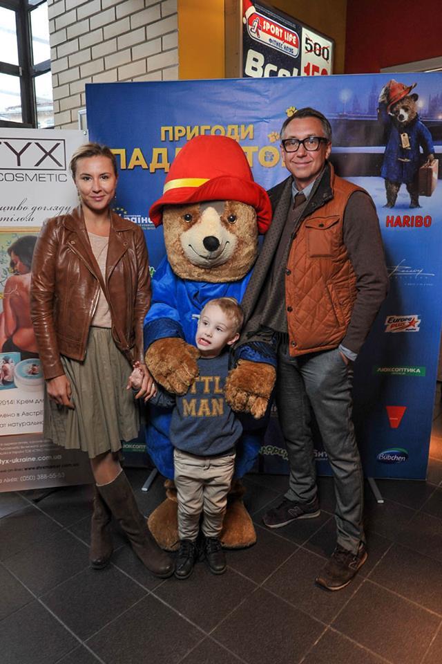 Семен Горов с Яной Помазан на премьере Медвежонок Паддингтон