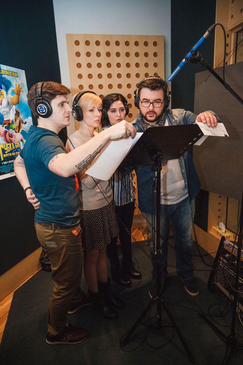 Украинские телеведущие заговорили голосами героев мультфильма Губка Боб: Жизнь на суше