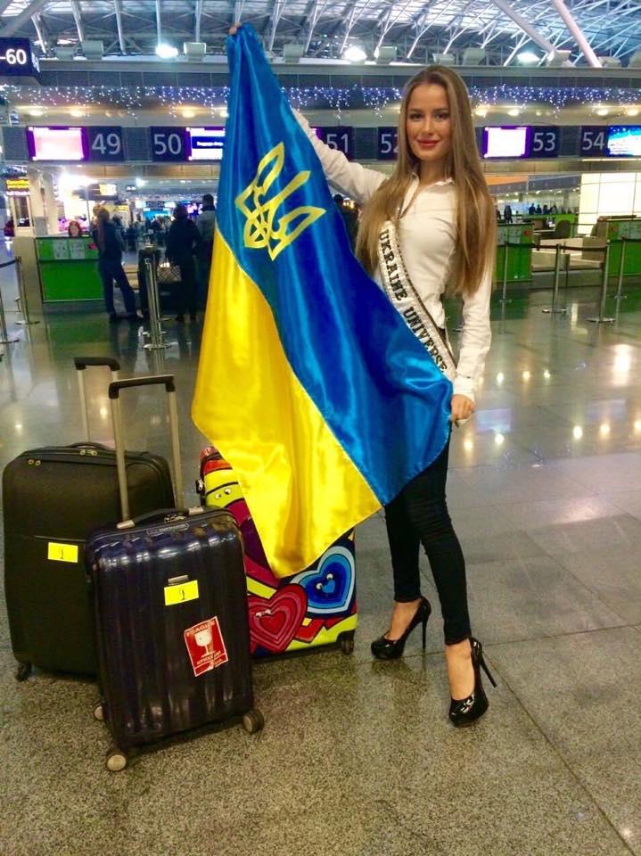 Диана Гаркуша на конкурсе Мисс Вселенная