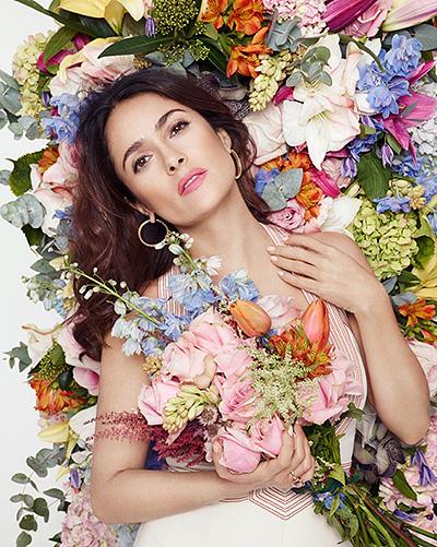 Весна пришла: Сальма Хайек расцвела на обложке L'Officiel Paris