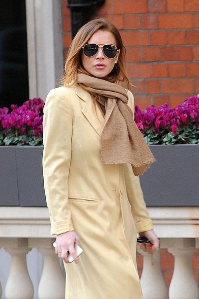 Линдсей Лохан удивила элегантным стилем в Лондоне