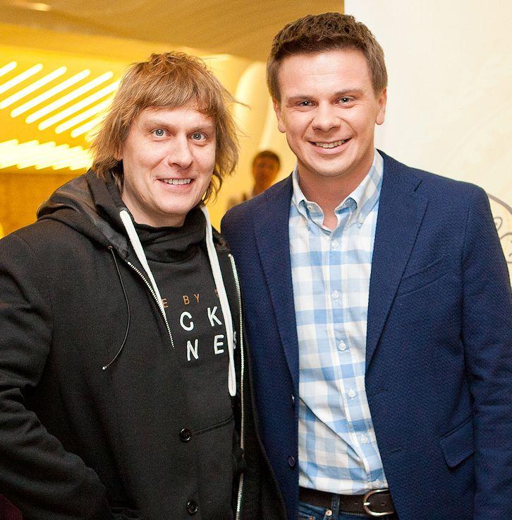Степана Казанин и Дмитрий Комаров на допремьерном показе нового сезона «Мира наизнанку»