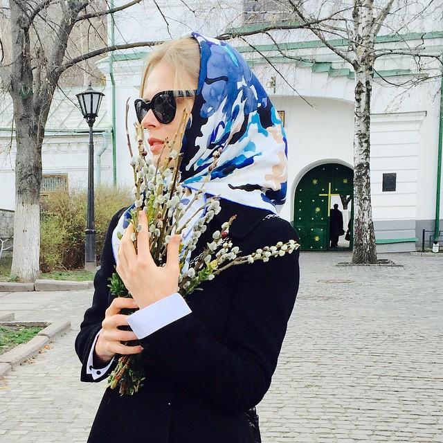 Ольга Фреймут празднует Пасху