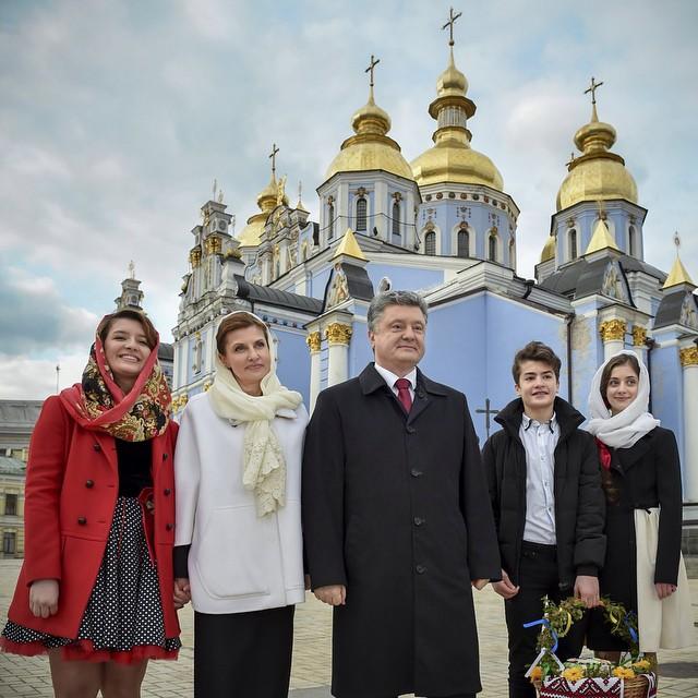 Петр Порошенко и его семья