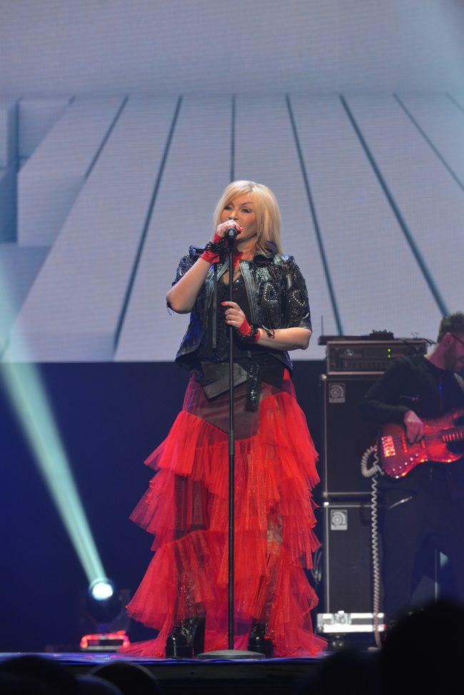 Ирина Билык на концерте в Киеве