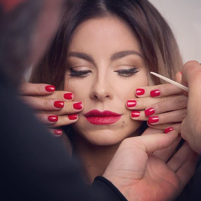 Ани Лорак - до и после макияжа