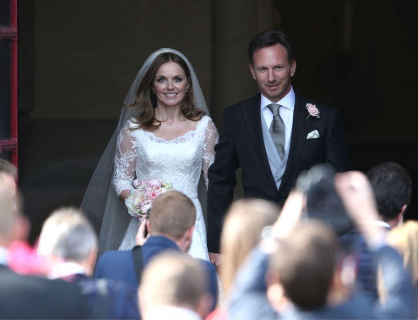 Свадьба: Джери Холлиуэл и Кристиан Хорнер поженились