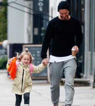 Маленькая принцесса: Дэвид Бекхэм показал повзрослевшую Харпер
