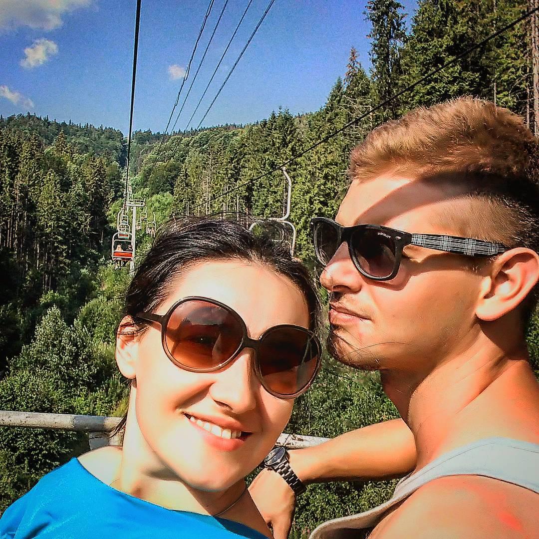 Соломия Витвицкая отдыхает с мужем в Карпатах