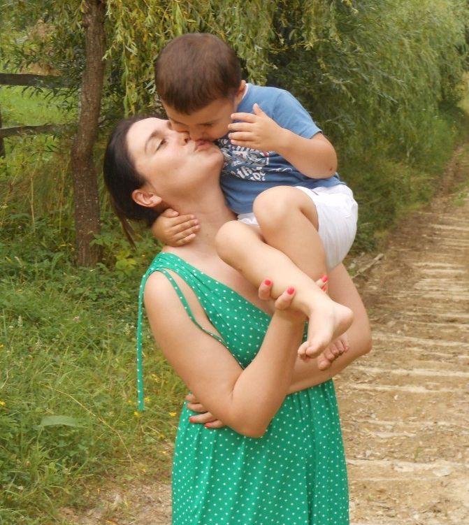 Людмила Барбир с сыном