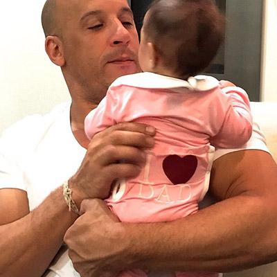 Вин Дизель растрогал публику фотографиями с малышкой-дочерью