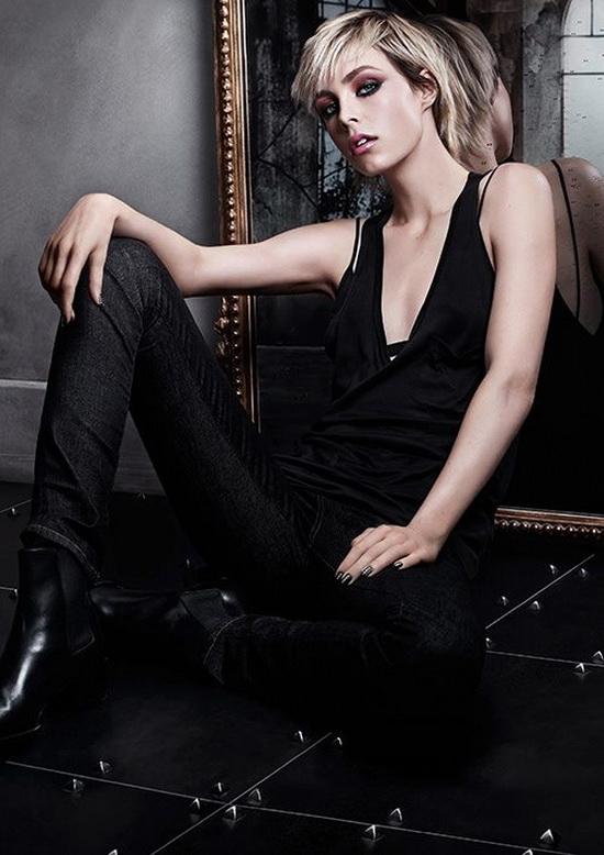 Эди Кэмпбелл стала лицом осенней коллекции макияжа YSL