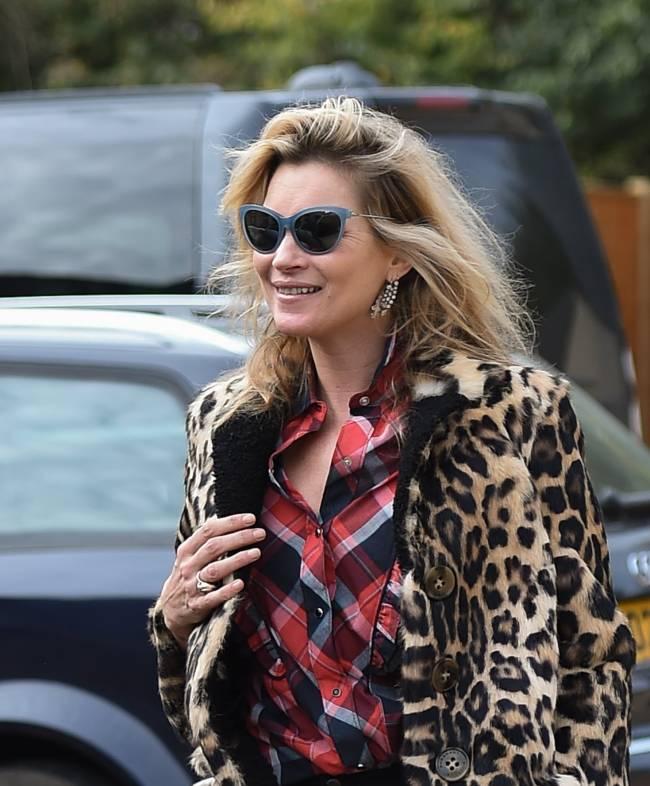 Стильная Кейт Мосс покорила публику леопардовым нарядом