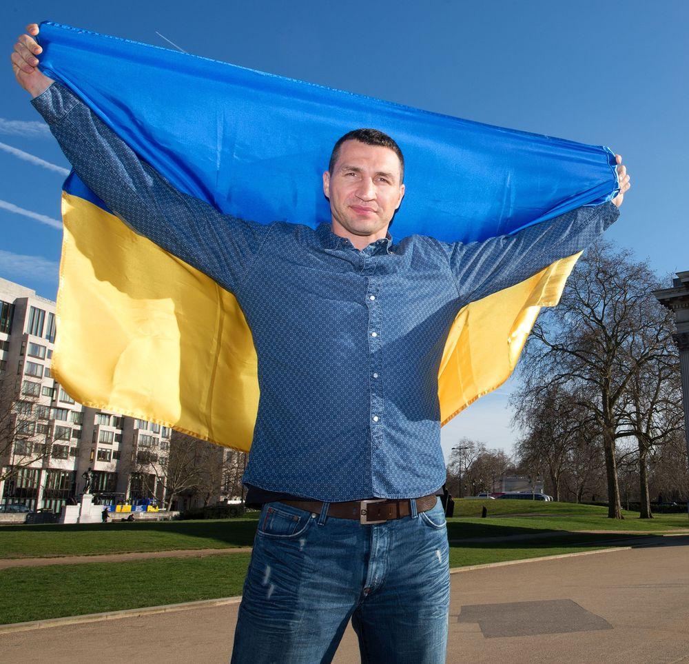 Владимир Кличко с флагом Украины