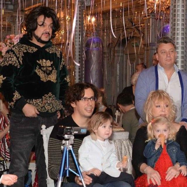 Галкин и Пугачева с детьми