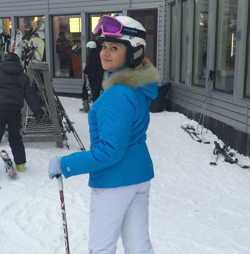 Наталия Бучинская впервые стала на лыжи