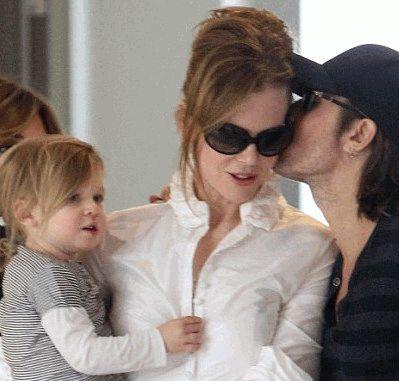 Николь Кидман с дочкой
