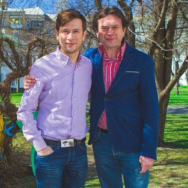 Остап Ступка и Дмитрий Ступка