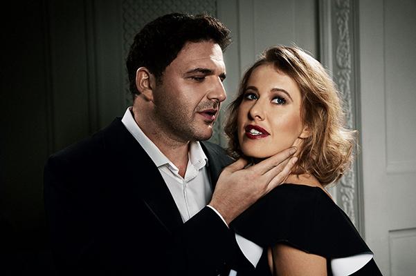 Стильные и влюбленные: Ксения Собчак и Максим Виторган снялись в романтичной фотосессии для глянца