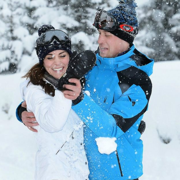 Счастливое семейство: принц Уильям и герцогиня Кэтрин с детьми отдыхают в Альпах