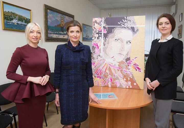 Марина Порошенко на выставке