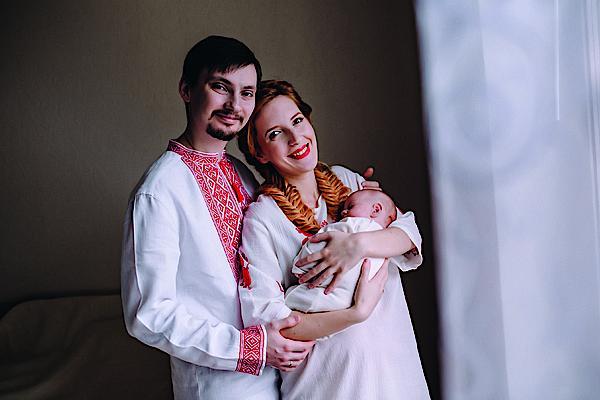 Иллария с мужем и дочерью
