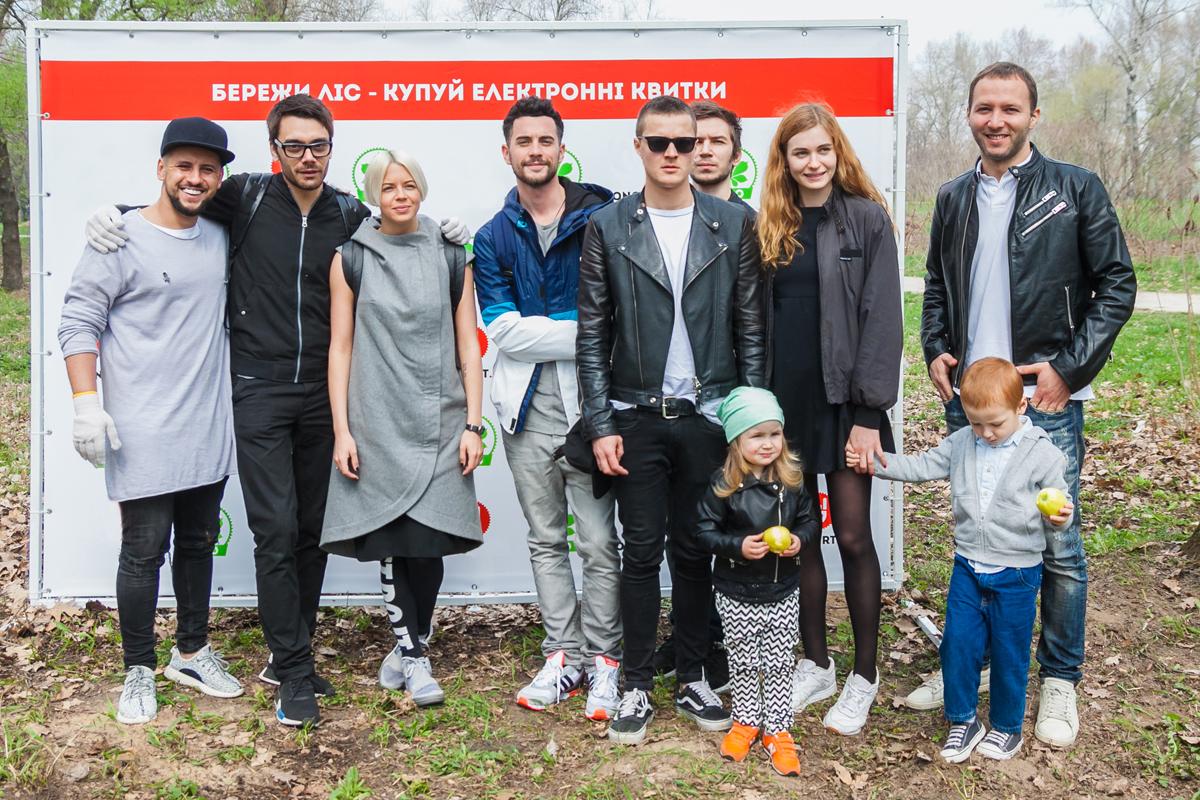 звезды посадили в Киеве аллею каштанов