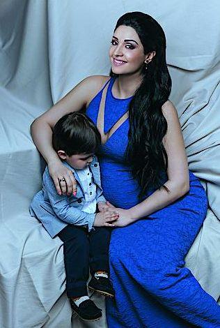 Ангелина Завальская с сыном в журнале Вива