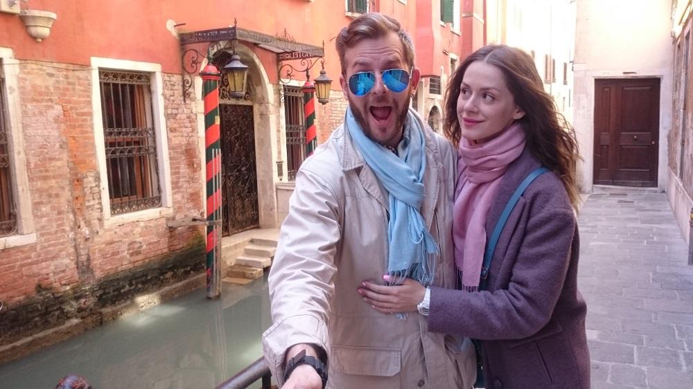 Украинский телеведущий провел с женой романтический отпуск в Венеции
