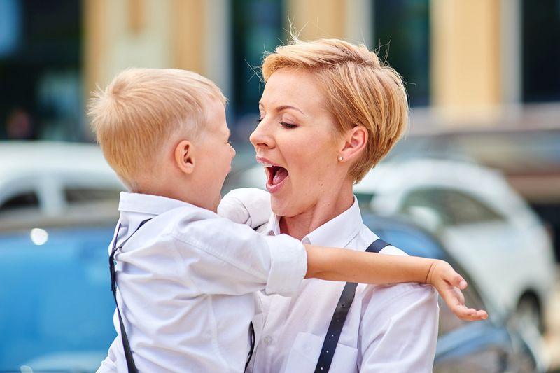 Марина Леончук с сыном