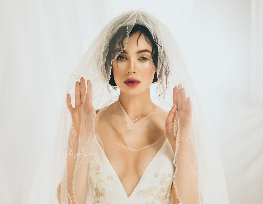 Мария Яремчук в наряде невесты
