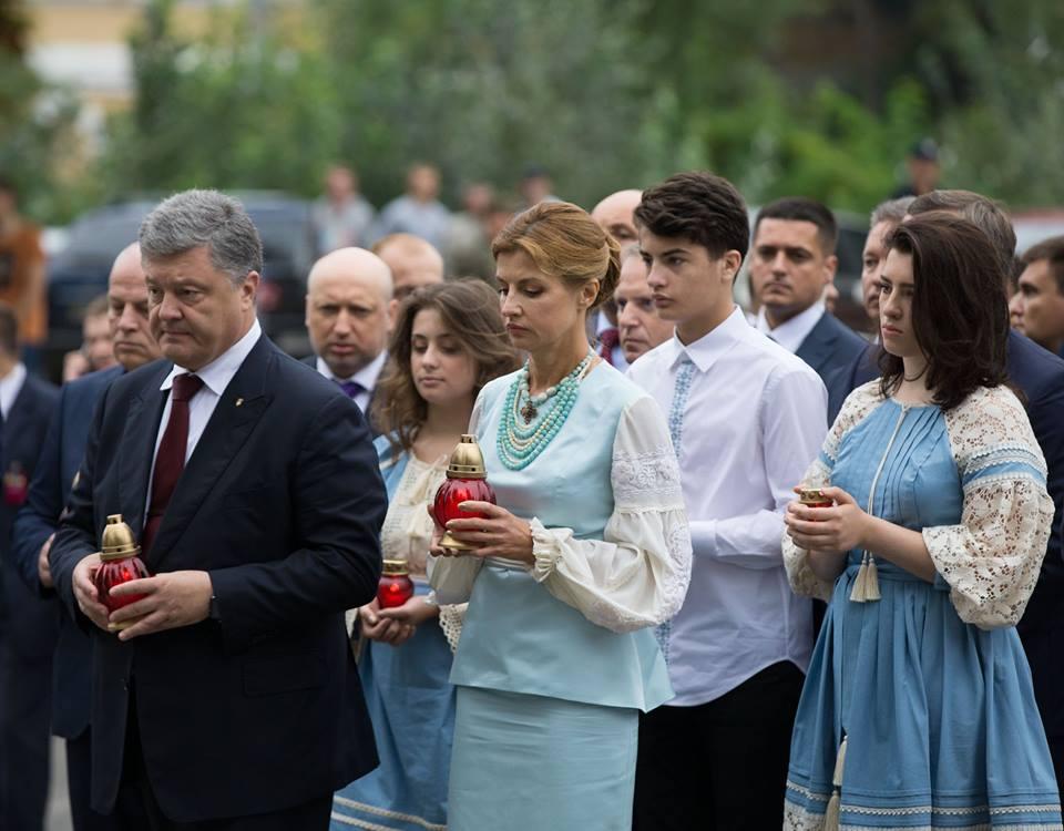 Петр Порошенко публично признался в своих чувствах к жене