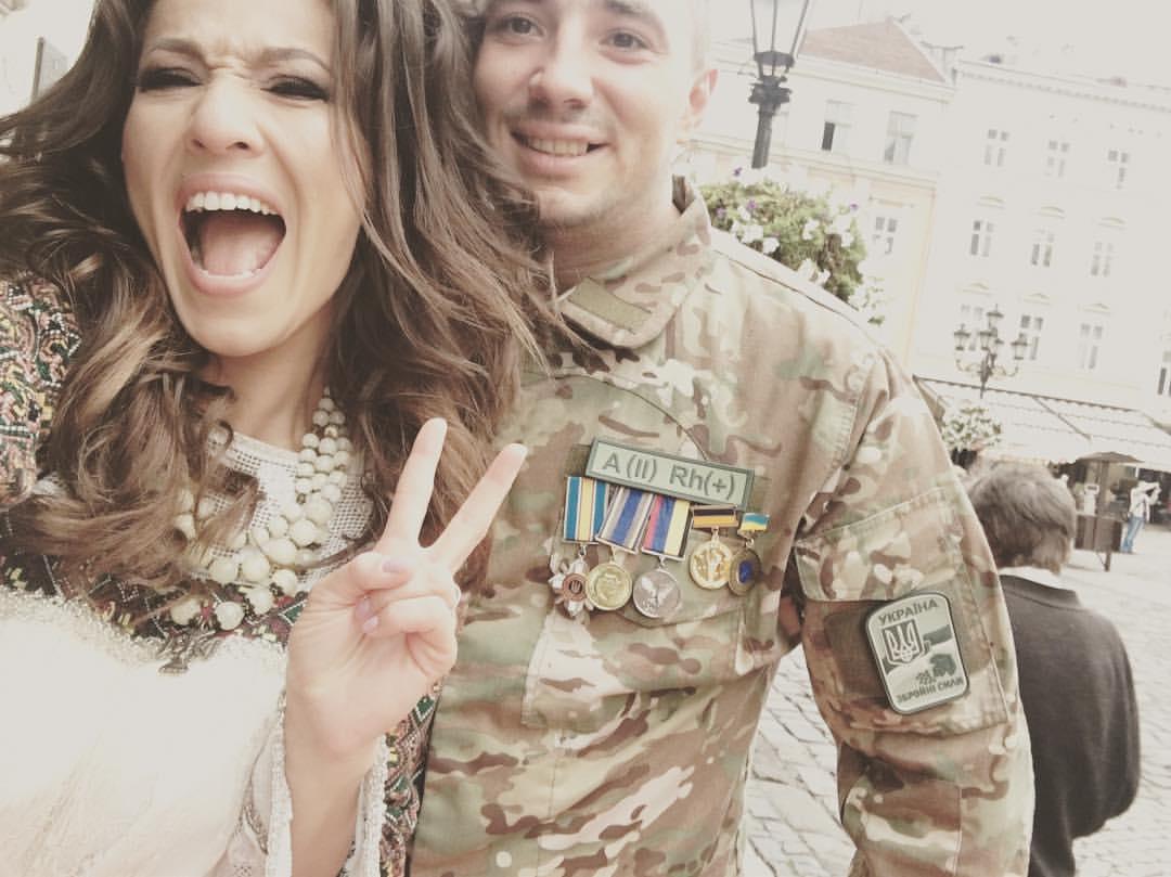 Наталка Карпа вышла замуж за героя АТО