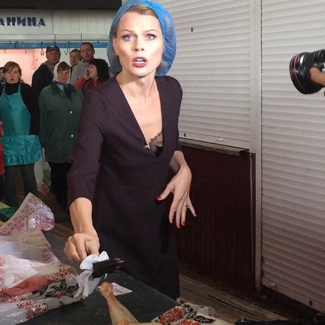 Ольга Фреймут на съемках
