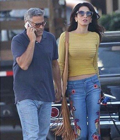 Ни дня без любимого: Амаль Клуни приехала на съемки к Джорджу Клуни