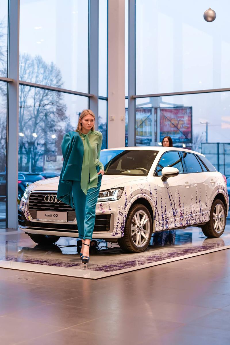 Презентация Audi Q2 с принтом Couture de Fleur: из Прованса с любовью