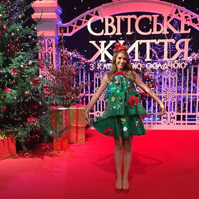 Елка-style: Катя Осадчая опубликовала лучшие детские копии своего новогоднего платья