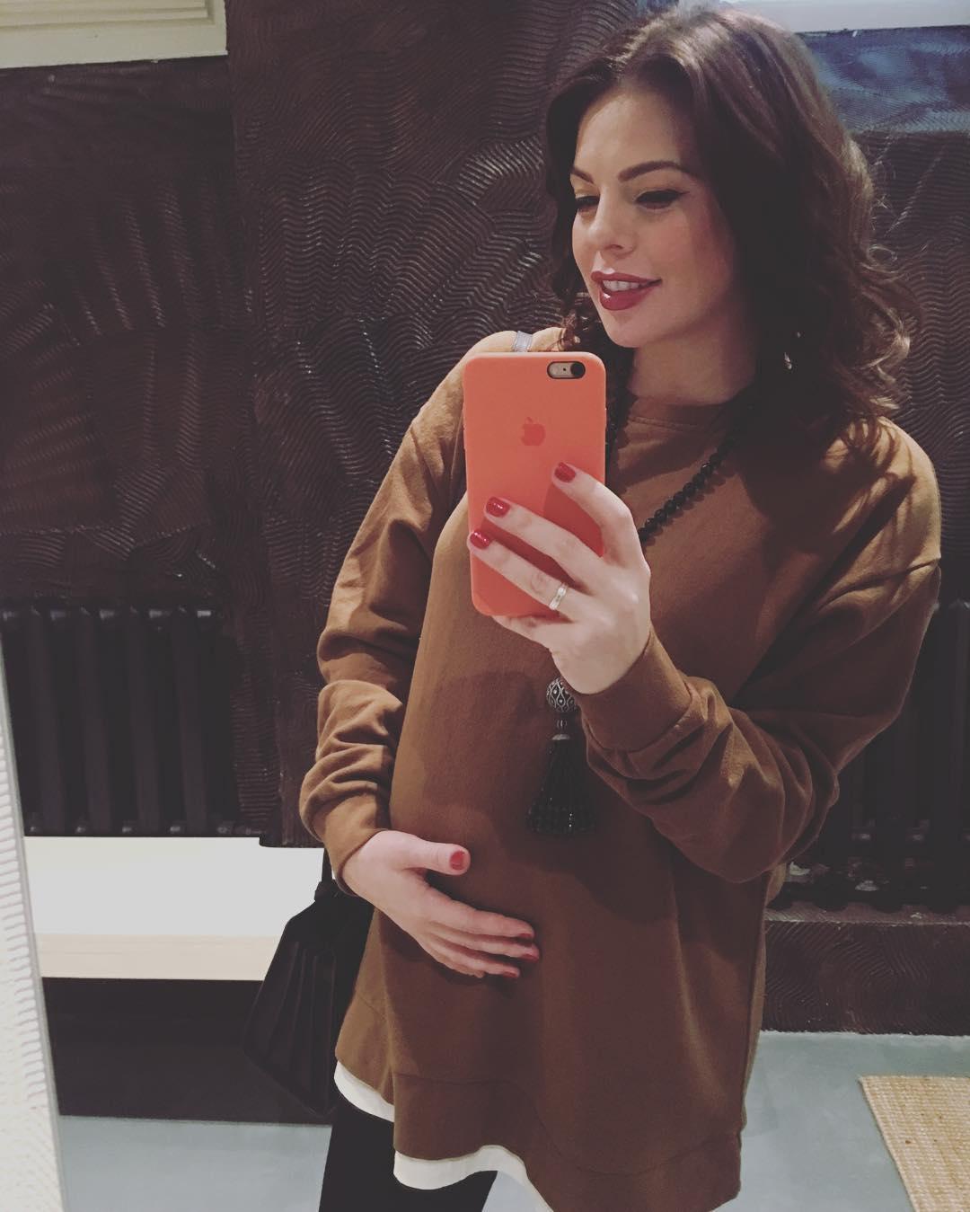Беременная Анастасия Стоцкая фото