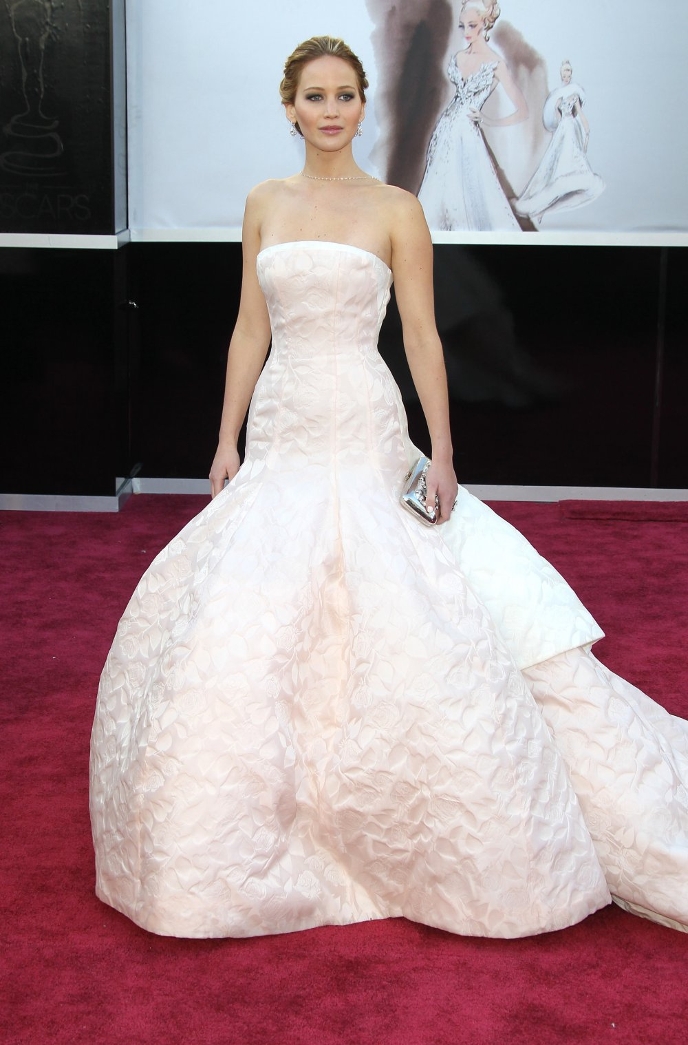 Дженнифер Лоуренс на Оскаре