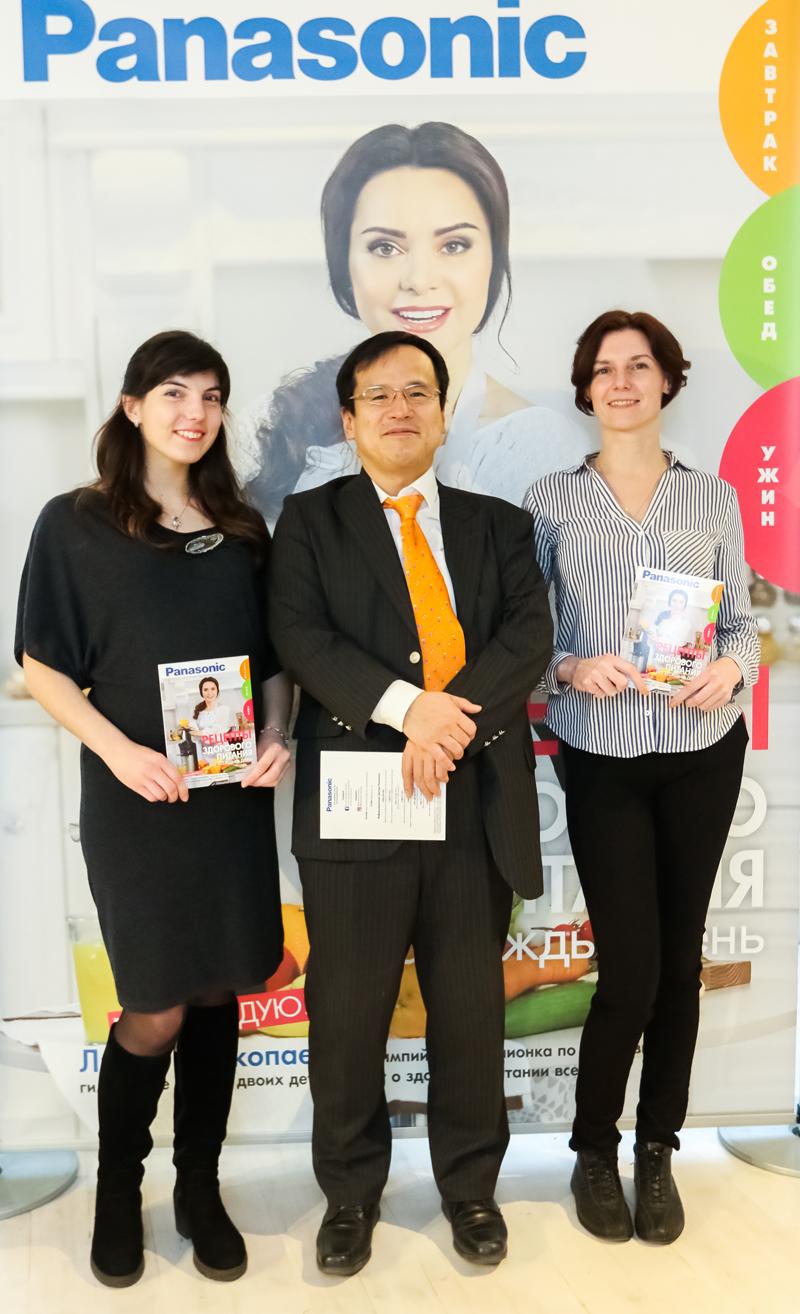 Презентация книги Рецепты здорового питания от компании Panasonic
