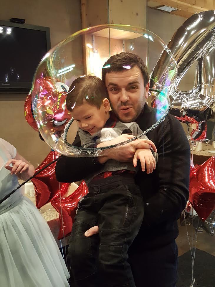 Григорий Решетник с сыном Ваней