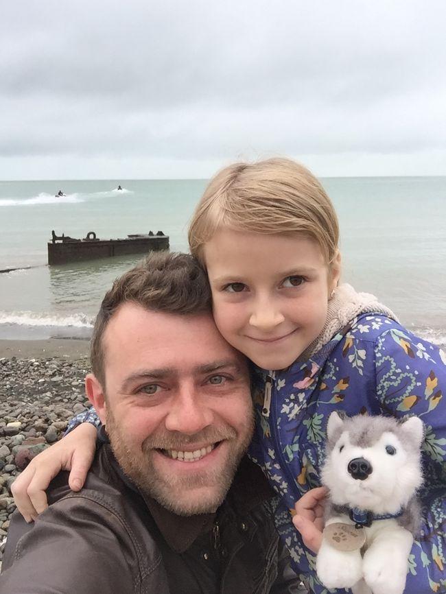 Дмитрий Горовенко с дочерью