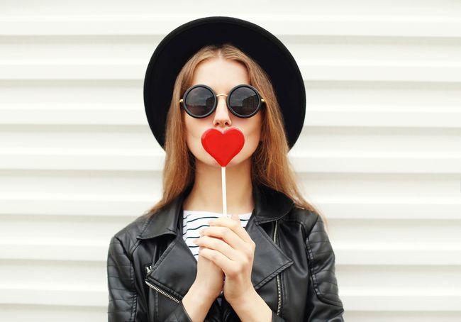 sunglasses and lollipop