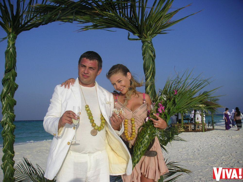 Тина Кароль и Евгений Огир на Мальдивах в 2008 году