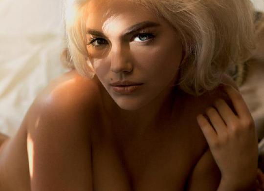 Обнаженная Кейт Аптон позирует в образе Мэрилин Монро